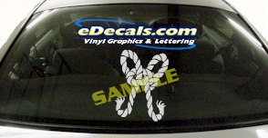 CRT510 Knotted Rope Marine Cartoon Decal