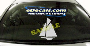 CRT524 Sailboat Marine Cartoon Decal