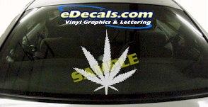 CRT617 Marajuana Pot Smoke Decal