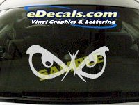 CRT674 Eyes cartoon Decal