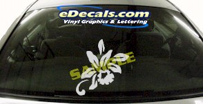 CRT701 Flower Cartoon Decal