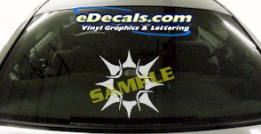 CRT709 Sun Symbol Cartoon Decal