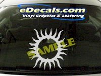 CRT710 Sun Symbol Cartoon Decal