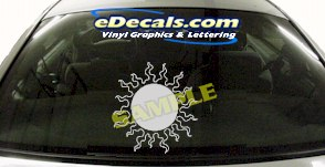 CRT712 Sun Symbol Cartoon Decal