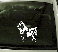 CRT727 Austrailian Terrior Dog Cartoon Decal