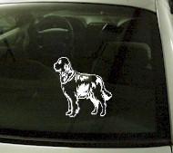 CRT745 Golden Retriever Dog Cartoon Decal