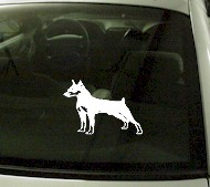 CRT754 Mini Pin Miniature Doberman Pinchser Dog Cartoon Decal