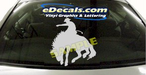 CRT800 Rodeo Western Horse Cowboy Cartoon Decal