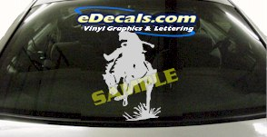 CRT801 Rodeo Western Horse Cowboy Cartoon Decal