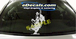 CRT802 Rodeo Western Horse Cowboy Cartoon Decal