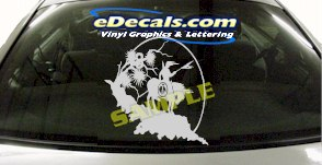 CRT809 Native American Indian Cartoon Decal