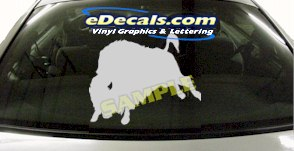 CRT820 Cattle Bull Cartoon Decal
