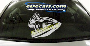 CRT822 Jet Ski Watercraft Transportation Cartoon Decal