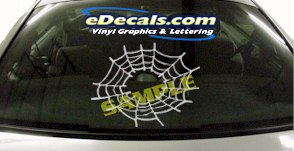CRT832 Spider Web Cartoon Decal