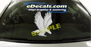 CRT835 Eagle Animal Cartoon Decal