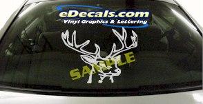 CRT839 Deer Elk Deercals Rack Animal Cartoon Decal