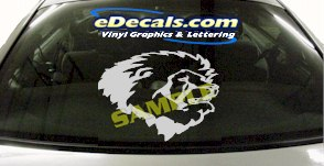 CRT842 Lion Head Animal Cartoon Decal