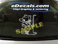 CRT847 Mascot Animal Cartoon Decal