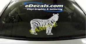 CRT855 Zebra Animal Cartoon Decal