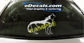 CRT857 Howling Dog Animal Cartoon Decal
