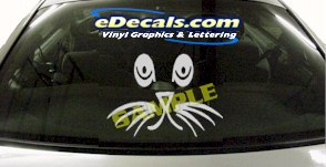 CRT876 Sad Cat Eyes Animal Cartoon Decal