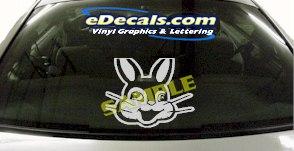CRT877 Funny Bunny Rabbit Animal Cartoon Decal