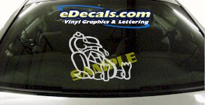 CRT879 Mascot Animal Cartoon Decal
