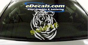 CRT884 Tiger Head Animal Cartoon Decal