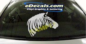 CRT885 Zebra Head Animal Cartoon Decal