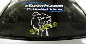 CRT896 Sheep Lamb Animal Cartoon Decal