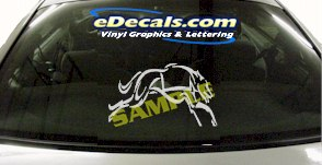 CRT902 Greyhound Dog Racing Cartoon Decal