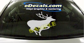 CRT904 Deer Elk Deercals Animal Cartoon Decal