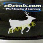 CRT905 Deer Elk Deercals Animal Cartoon Decal