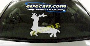 CRT909 Deer Elk Deercals Animal Cartoon Decal