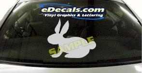 CRT910 Rabbit Animal Cartoon Decal