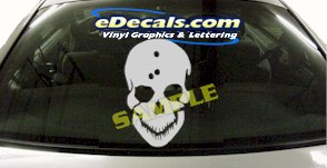 CRT914 Skull Head Cartoon Decal