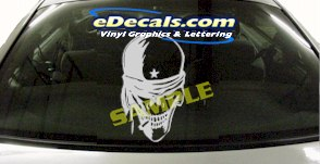 CRT915 Skull Head Cartoon Decal