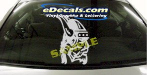 CRT916 Viking Warrior Cartoon Decal