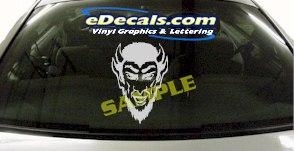 CRT923 Skull Devil Cartoon Decal