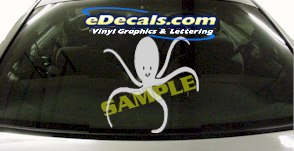 CRT925 Octopus Fish Animal Cartoon Decal