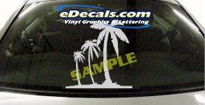 CRT926 Palm Trees Cartoon Decal