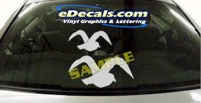 CRT929 Seagull Bird Animal Cartoon Decal