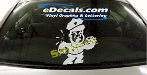 CRT943 Police Officer Cop Cartoon Decal