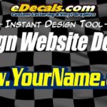 Website Domain Name Decal Sticker