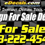 For Sale Name Decal Sticker