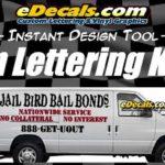 Van Truck Lettering Decal Kit