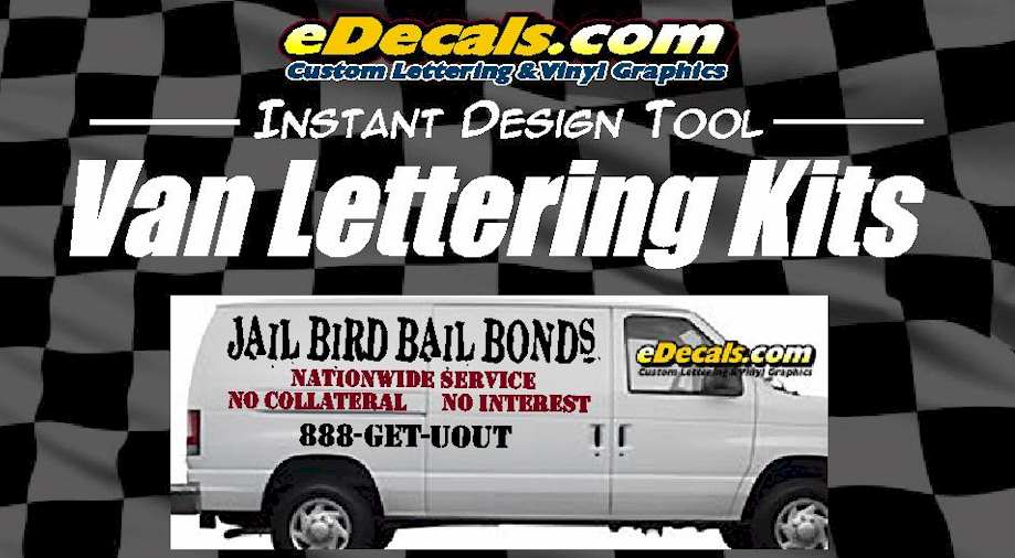 Custom9009 – Custom Van Lettering Decal Kit
