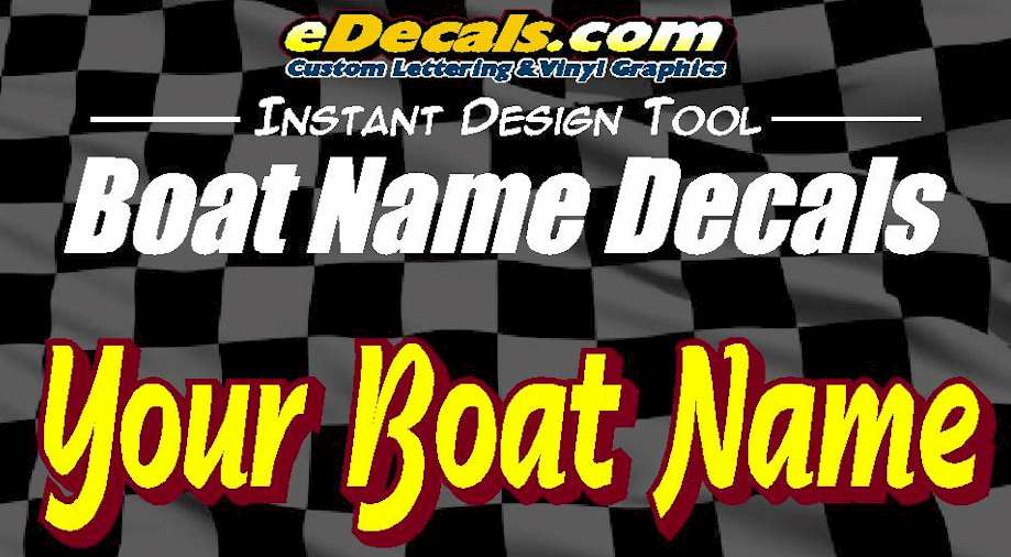 Boat Name Marine Decal Stickers