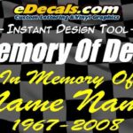 In Memory Of Memorial Decal Stickers
