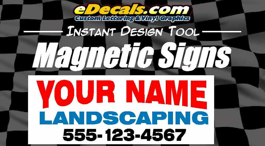 Custom9020 – Instant Commercial Magnetic Sign